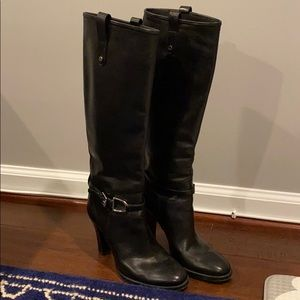 Ralph Lauren Collection Tall Black Boots Size 7